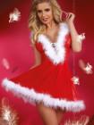 Сексуальный костюм снегурочки с капюшоном  Snowflake