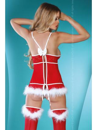 Супер эротичный костюм снегурочки Christmas Lady