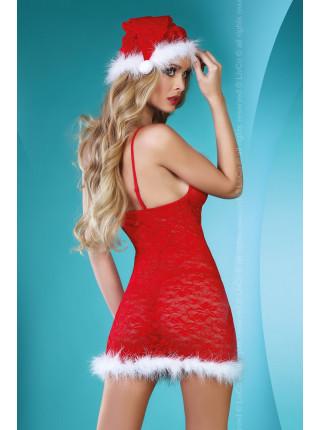 Эротический костюм снегурочки Christmas Star