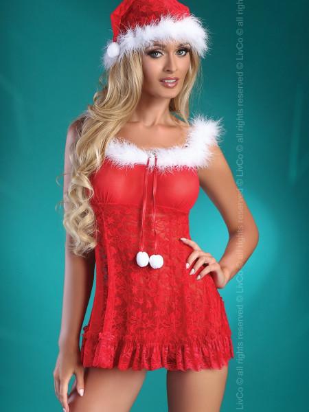 Эротический костюм снегурочки Christmas Bell