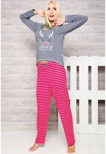Стильная пижама с рисунком Oda 1193