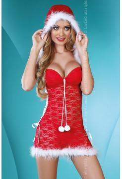 Сексуальный костюм снегурочки Santa Lady