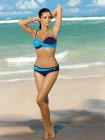 Двухцветный купальник с драпировкой Liliana Marko
