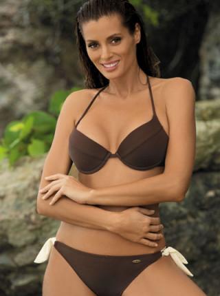 Женственный купальник с контрастными завязками Stacy Marko