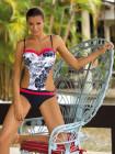 Сдельный купальник с яркими окантовками Marissa Marko