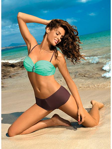 Двухцветный купальник с шортиками Tiffany Marko