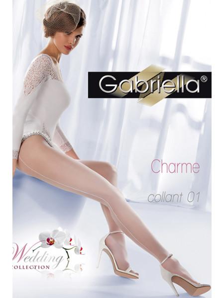 Колготки свадебные со швом Gabriella Charme 01 (20 den)