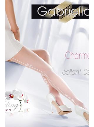 Колготки свадебные со стрелкой сзади Gabriella Charme 02 (20 den)