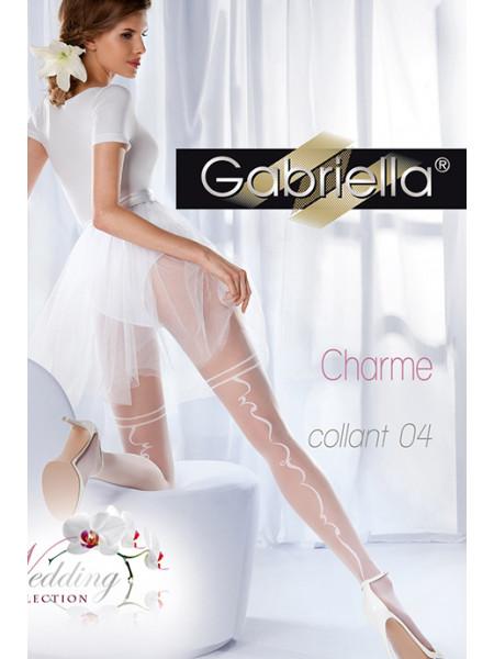 Колготки свадебные с узором сзади Gabriella Charme 04 (20 den)