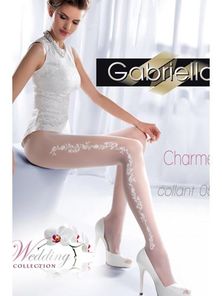 Колготки свадебные с узором Gabriella Charme 05 (20 den)