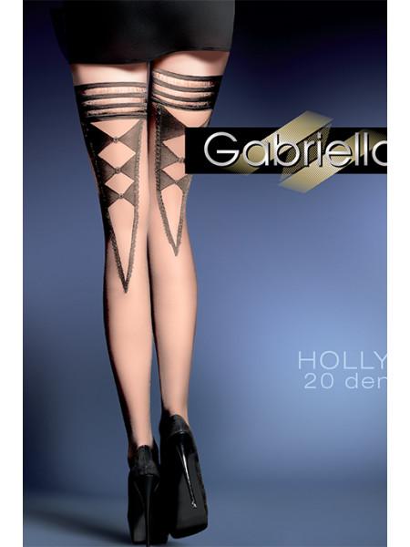 Фантазийные чулки с рисунком Holly (20 den)
