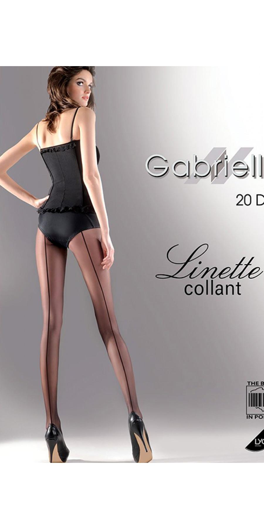 Тонкие колготки со швом Linette 20d