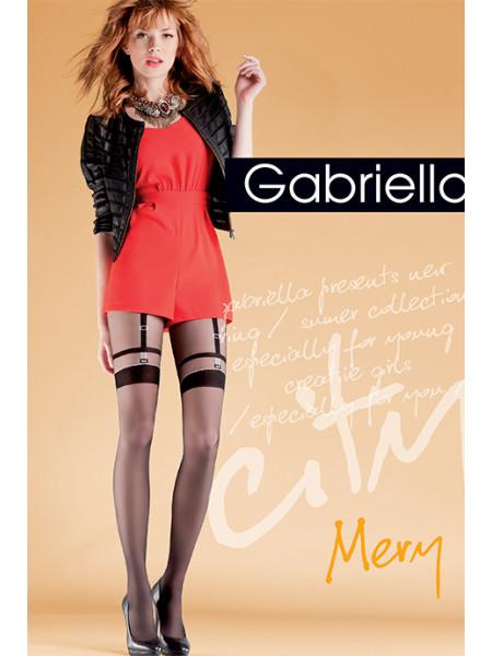 Колготки с имитацией чулок с подвязками Gabriella Mery (20 den)