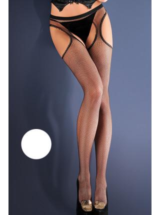 Чулки с поясом в мелкую сетку Strip Panty 151