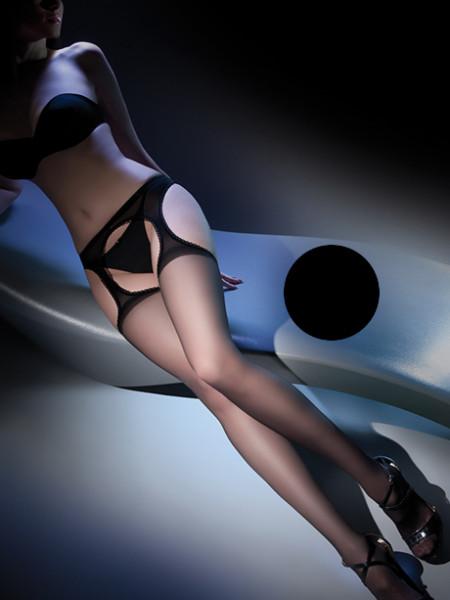 Колготки черные с имитацией чулок Strip Panty (20 den)