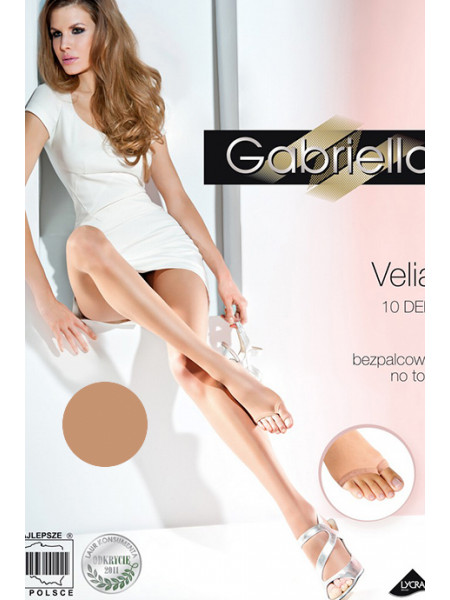 Колготки c открытыми носочками Velia (10 den)