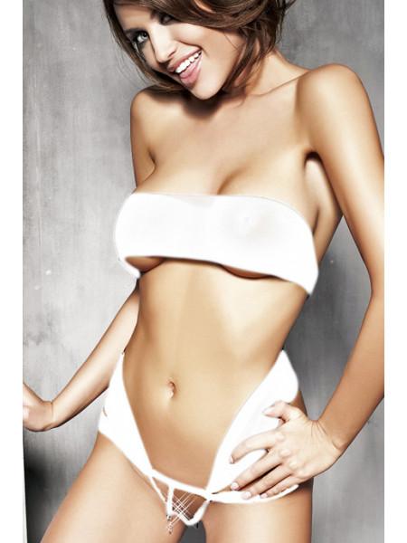 Сексуальная белая боди-лента Aura