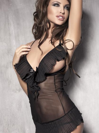 Эротическая сорочка с открытой грудью Caprice