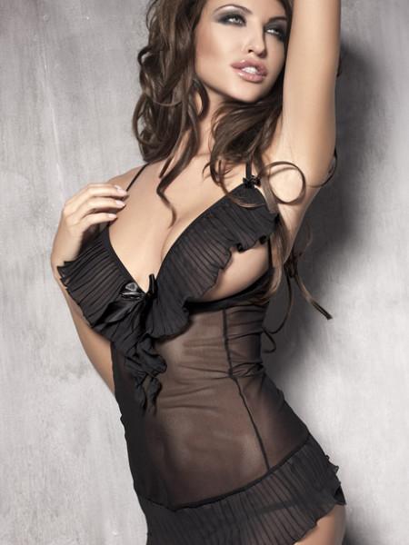 Эротический комплект с открытой грудью Caprice
