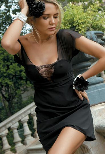 Сексуальная сорочка с открытой спинкой и шнуровкой Bonita N180