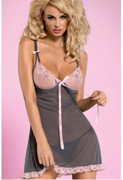 Эротическая сорочка с кружевным лифом Dovelia chemise
