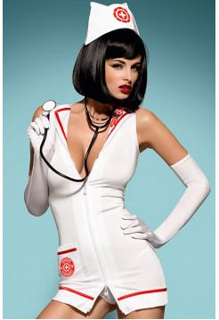 Эротический костюм медсестры со стетоскопом Emergency