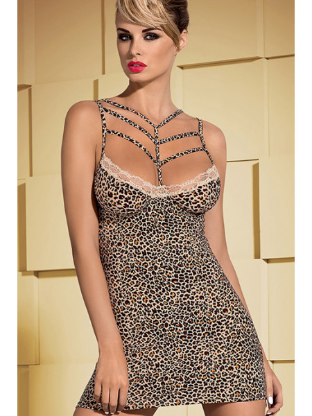 Эротическая сорочка в леопардовый принт Jungirl