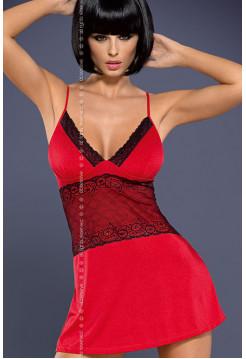 Сексуальная сорочка с кружевом Lamia chemise red