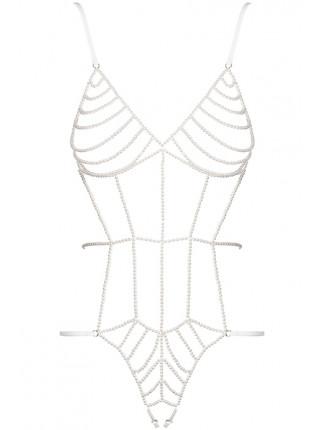 Сексуальное боди из нитей жемчуга Perlash