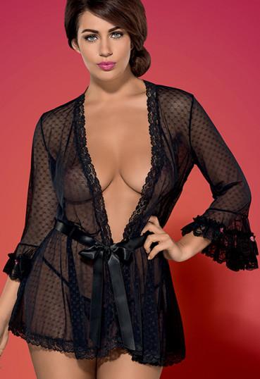 Сексуальный халатик с кружевом Piccorosa robe