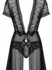 Нежный халатик с кружевом Swanita robe black