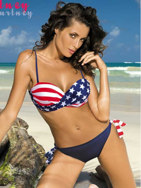 Купальник с американским флагом Courtney Marko