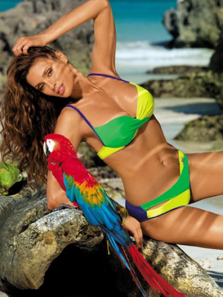 Необыкновенный двухцветный купальник Christina Marko