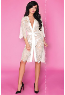 Белый кружевной халат Narele