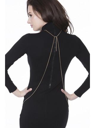 Золотистая декоративная цепочка на тело Julimex Bijoux Holly