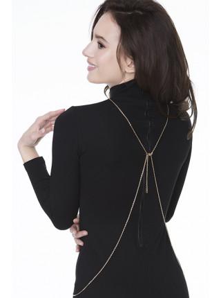 Золотистая декоративная цепочка на тело Julimex Bijoux Wendy
