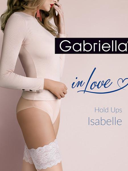 Чулки Gabriella Isabelle 20 den с самоудеживающимся кружевом (14 см)