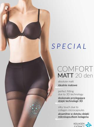 Колготки Gabriella Comfort Matt 20 den с уплотненными шортиками