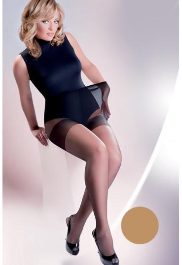 Телесные колготки с уплотненными шортиками Xenia 15 den plus size