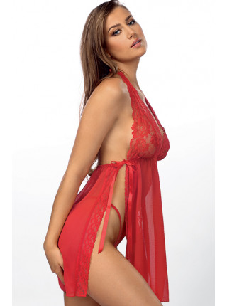 Сорочка с кружевом и разрезами Belinda