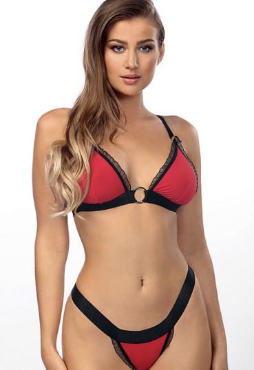 Сексуальный красный комплект Christine