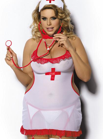 Сексуальный игровой костюм медсестры Shane