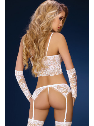Сексуальный кружевной комплект с поясом Modesta