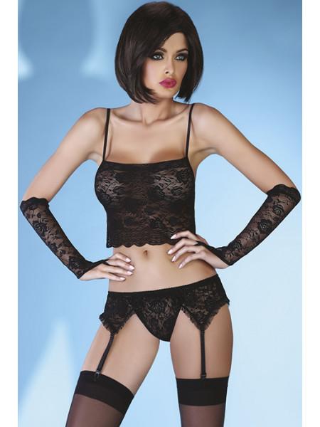 Черный сексуальный комплект с кружевом Modesta