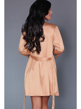 Элегантный комплект халатик и сорочка Sancha