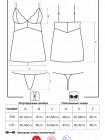 Эротическая сорочка с кружевными вставками 810-CHE-2 white