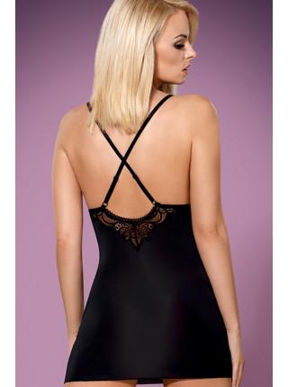 Сексуальная сорочка с кружевным лифом 828-CHE-1