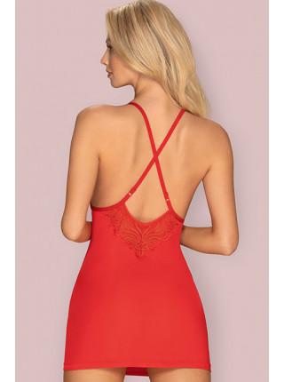Сексуальная сорочка с кружевными вставками 828-CHE-1