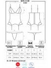 Сексуальный атласный корсет с рюшами 845-COR-5