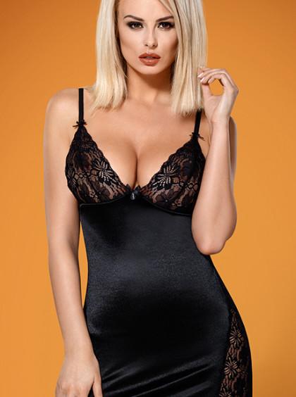 Сексуальная сорочка с кружевом 846-CHE-1